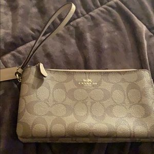 Authentic large coated wallet/wristlet